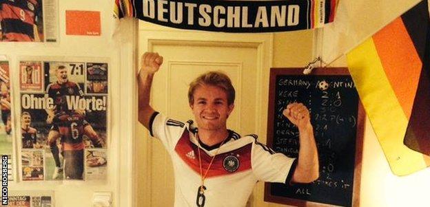 Nico Rosberg on Facebook