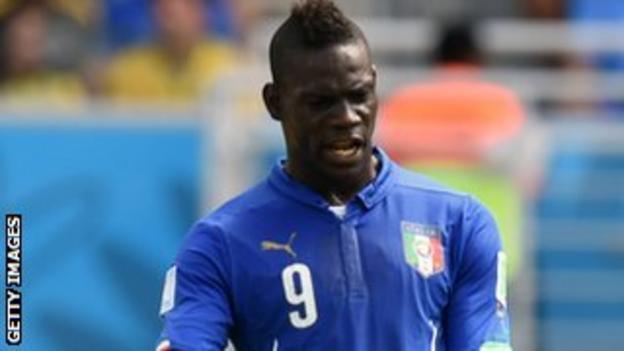 Italy and AC Milan striker Mario Balotelli