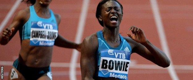 Torie Bowie wins in Monaco at the Diamond League