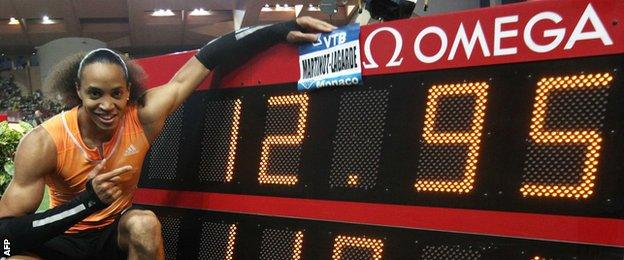 Pascal Martinot Lagarde sets a new French 110m record in Monaco
