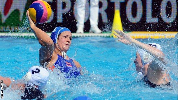GB women's water polo team