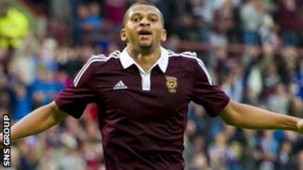 Osman Sow scored for Hearts against Manchester City