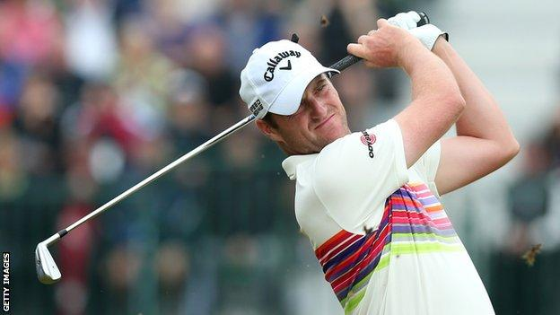 Marc Warren made eight pars and one birdie on Saturday's back nine