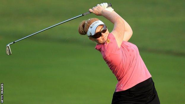 Kylie Walker wins the Ladies German Open in a play-off against Charley Hull