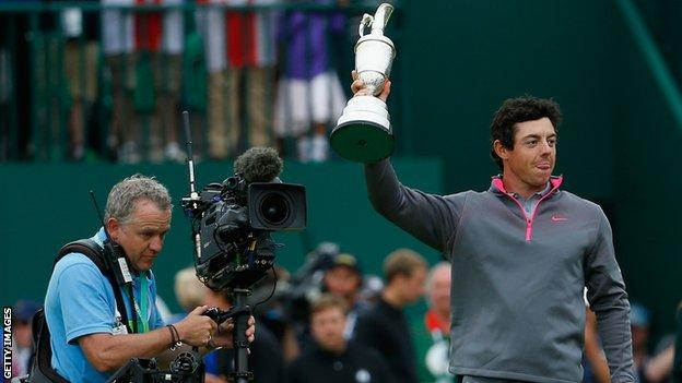 Rory McIlroy with the Claret Jug awarded to the Open Championship winner