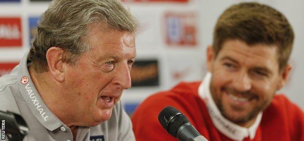 Steven Gerrard and Roy Hodgson