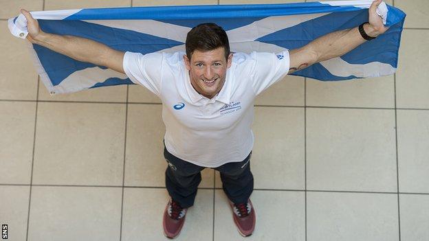 Scottish swimmers Michael Jamieson