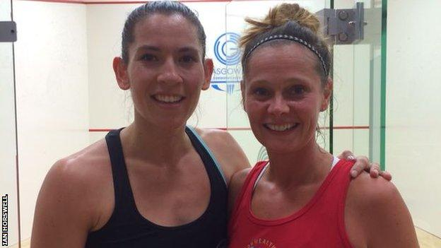 Sarah Taylor and Joelle King