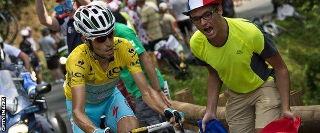 Vincenzo Nibali powered up Hautacam to leave his closest challengers in his wake