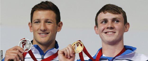 Michael Jamieson (left) and Ross Murdoch with their medals