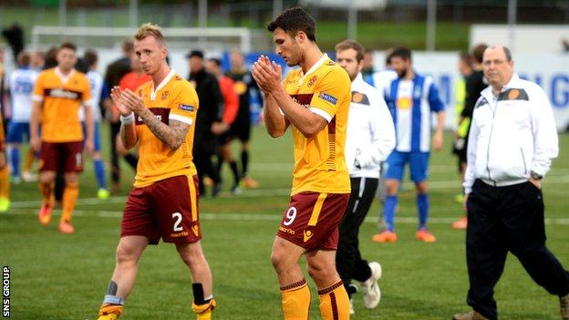 Motherwell were in front twice in Iceland but could not hold on