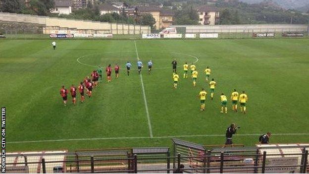 Norwich's friendly against Italian minnows