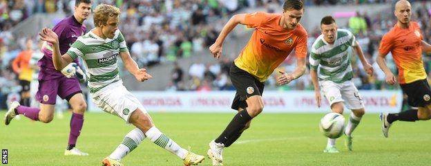 Celtic striker Teemu Pukki