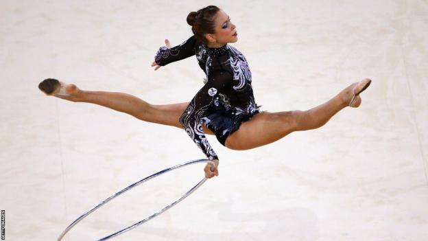Frankie Jones's third medal of the Commonwealth Games was a silver in the individual hoop final.