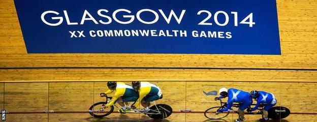 Neil Fachie and Craig Maclean of Scotland had plenty to do against the Australians but still managed to claim gold