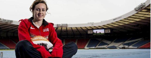 Scottish athlete Laura Muir