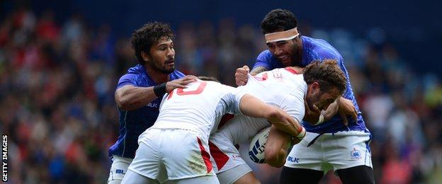 England are beaten by Samoa