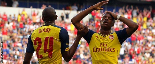 Chuba Akpom and Abou Diaby