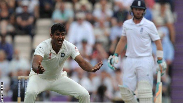India's Pankaj Singh appeals for lbw