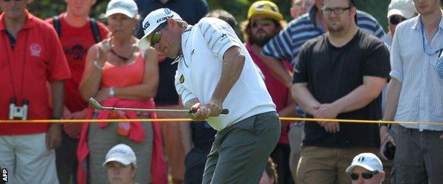 Lee Westwood at The Open, Royal Liverpool Golf Club
