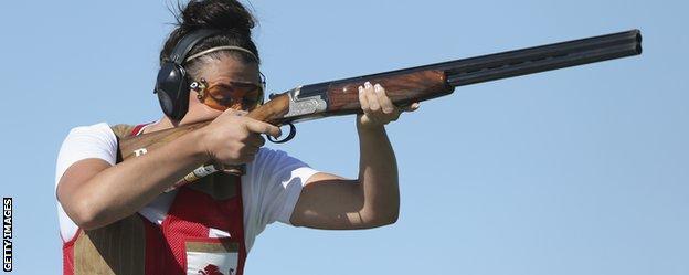 Caroline Povey shoots for bronze