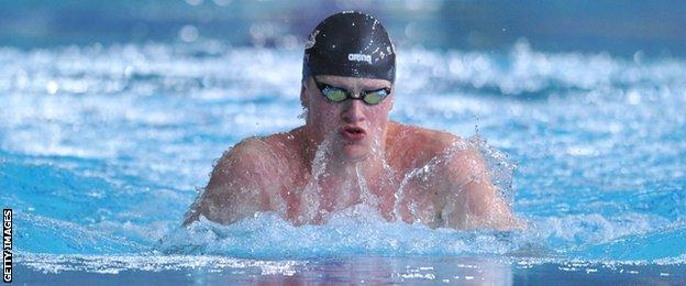 Adam Peaty took silver for England in the 50m breaststroke