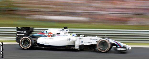 Williams F1 Car at the Hungarian Grand Prix