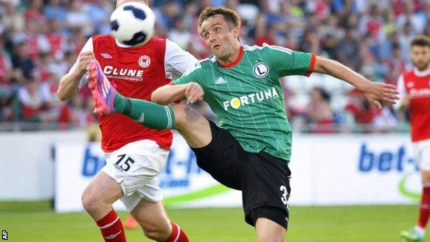 Legia Warsaw take on St Pat's in the Champions League