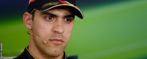 Pastor Maldonado looks on at the drivers press conference in Hungary
