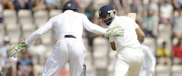 Ravindra Jadeja is bowled