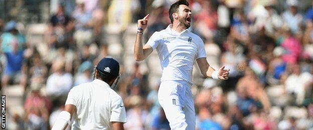 James Anderson took key wickets throughout the Test, including five in the first innings