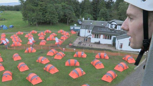 Camping at Auchengillan