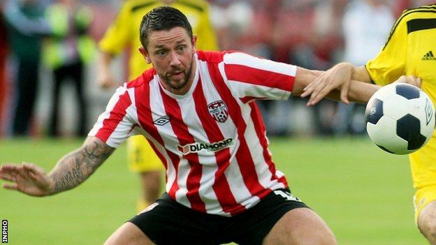 Rory Patterson scored two in Derry City's 4-0 win over Bohemians