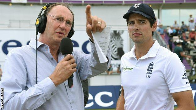 BBC cricket correspondent Jonathan Agnew and England skipper Alastair Cook