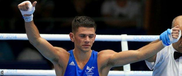 Boxer Joe Cordina is a medal prospect for Wales in the boxing ring