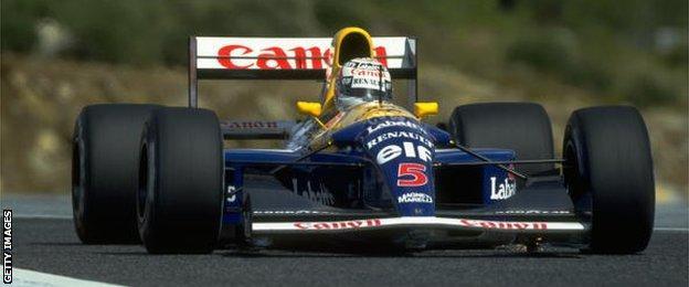 Williams' Nigel Mansell