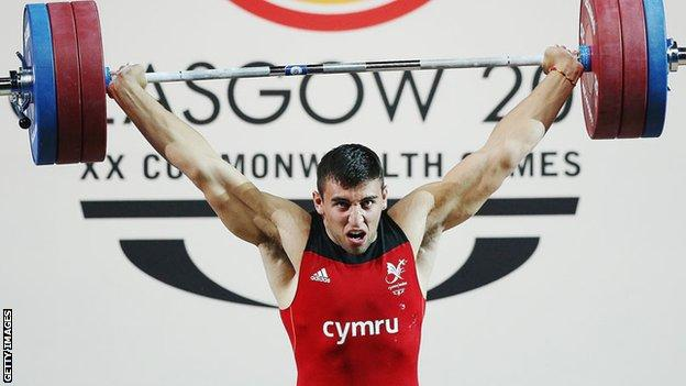 Darius Jokarzadeh in action at the Commonwealth Games