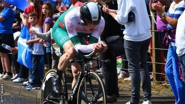 Michael Hutchinson is competing in his fourth Commonwealth Games