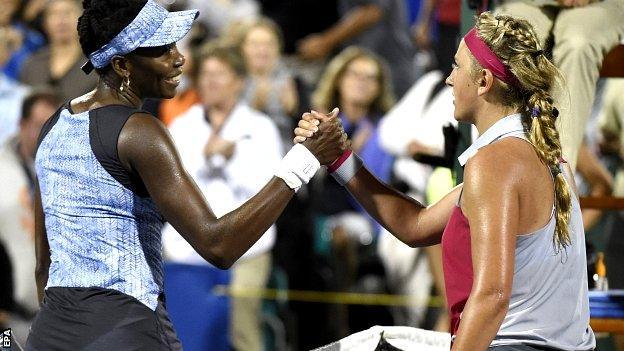 Venus Williams and Victoria Azarenka