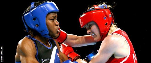 Nicola Adams fighting Michaela Walsh