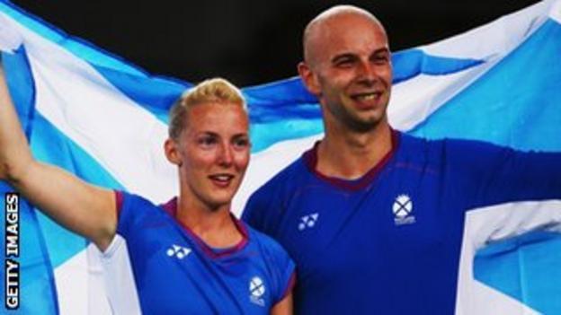 Scotland's Imogen Bankier and Robert Blair