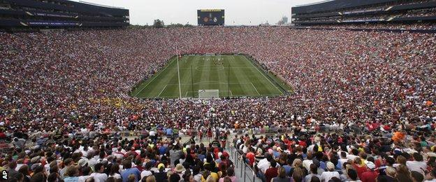 A crowd of 109,318 turned up in Ann Arbor, Michigan to watch the match