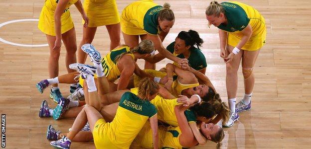 Australia celebrate winning gold
