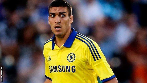 Chelsea midfielder Oriol Romeu