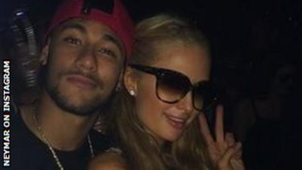 Neymar and Paris Hilton