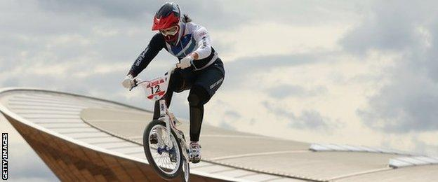 Shanaze Reade of Britain competing in the London 2012 Olympics
