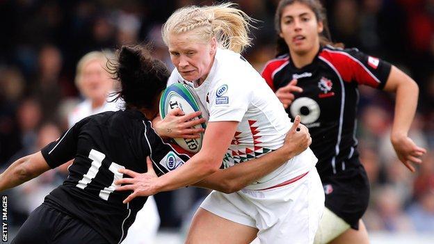 Alexandra Matthews in England action