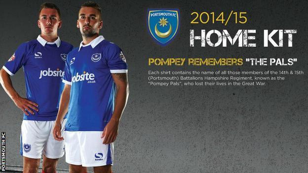 Portsmouth's new kit