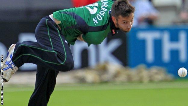 Worcestershire fast bowler Nick Harrison