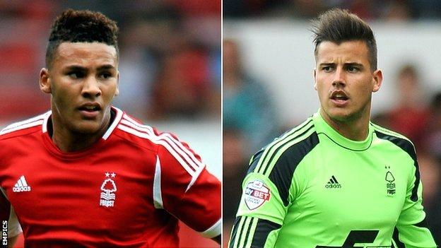 Jamaal Lascelles (l) and Karl Darlow
